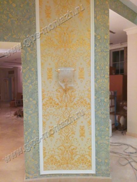 Окраска стен в коттедже