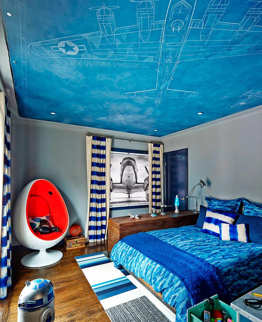 Потолок детская комната дизайн для мальчика