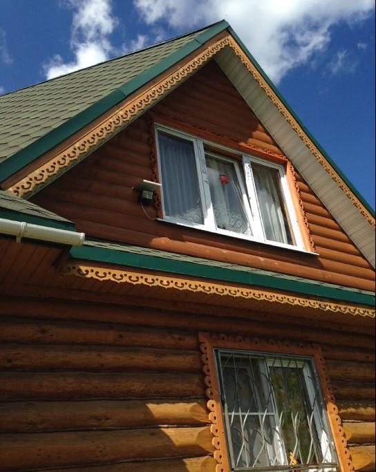 принимает отделка фронтонов деревянного дома фото также
